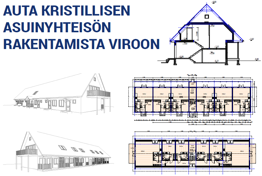 Auta kristillisen asuinyhteisön rakentamista Viroon